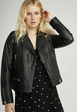 CAREN - Leather jacket - black