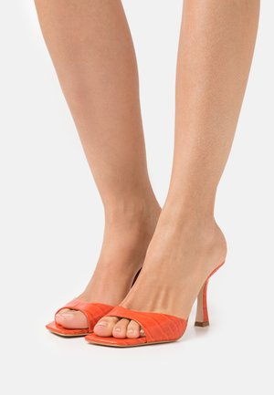 SEALA - Heeled mules - orange mist
