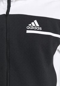 adidas Performance - HOODIE PRIMEGREEN HOODED TRACK TOP - Zip-up hoodie - black/white - 5