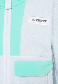 adidas Performance - TERREX SHERPA HOODED - Fleecetakki - acid mint/halo blue - 5