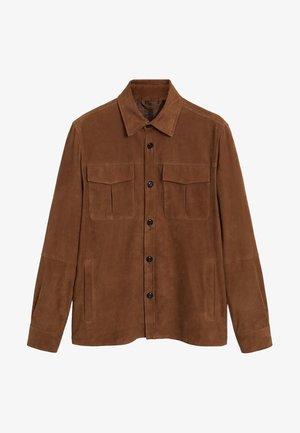 NAMIB - Leather jacket - hellbraun/pastellbraun