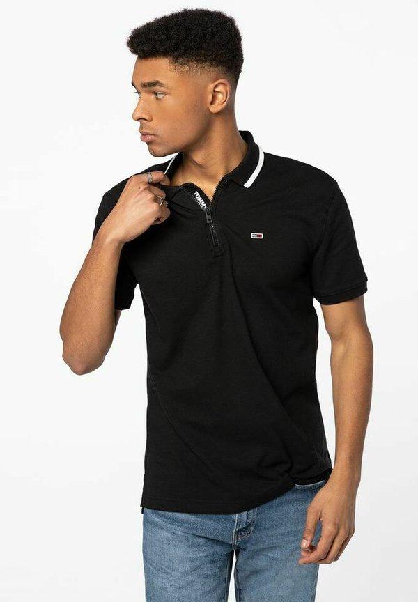 Tommy Jeans Koszulka polo - black/czarny Odzież Męska WSCN