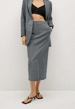 ASANTE-A - Maxi skirt - middenblauw
