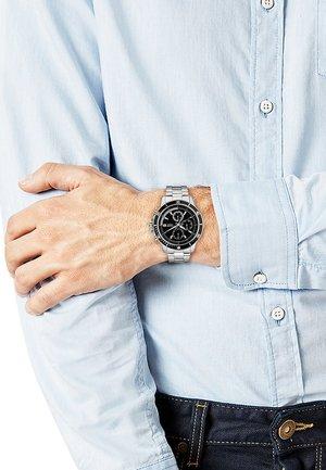 Chronograph watch - silver/black