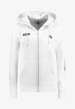 SERINATAS - Zip-up hoodie - white