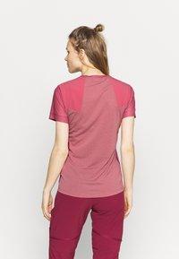 Salewa - SECEDA DRY  - Print T-shirt - mauvemood - 2