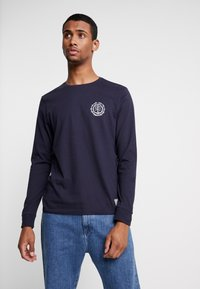 Element - TOO LATE LOGO - Long sleeved top - eclipse navy - 2