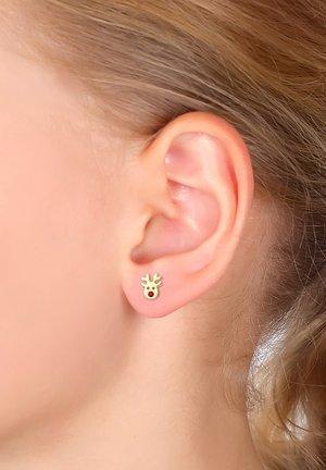 GLASS CRYSTAL - Earrings - gold