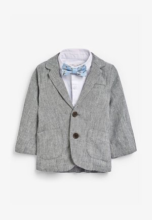 GREY BLAZER, SHIRT & SHORT SET (3MTHS-7YRS) - Sako - grey