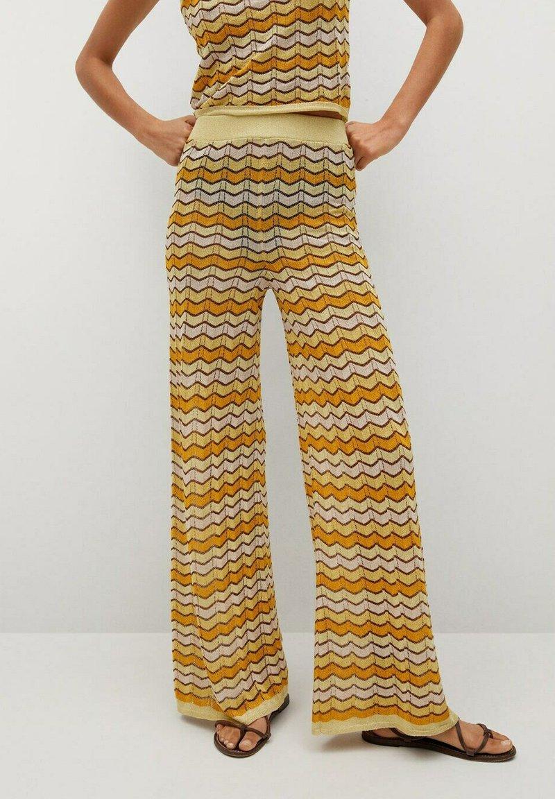 Mango - Trousers - mosterd