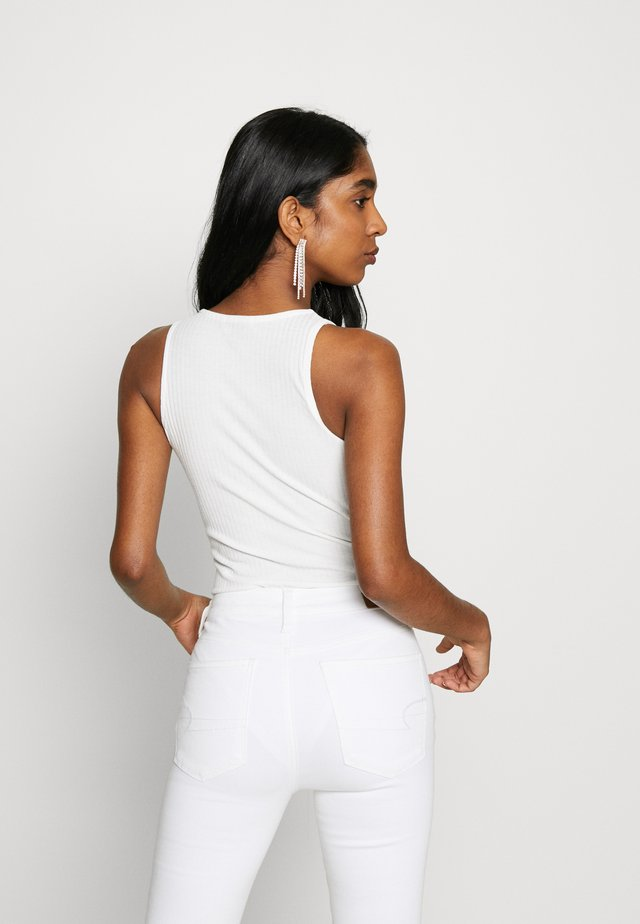 SOFT RIB RACER - Top - off white