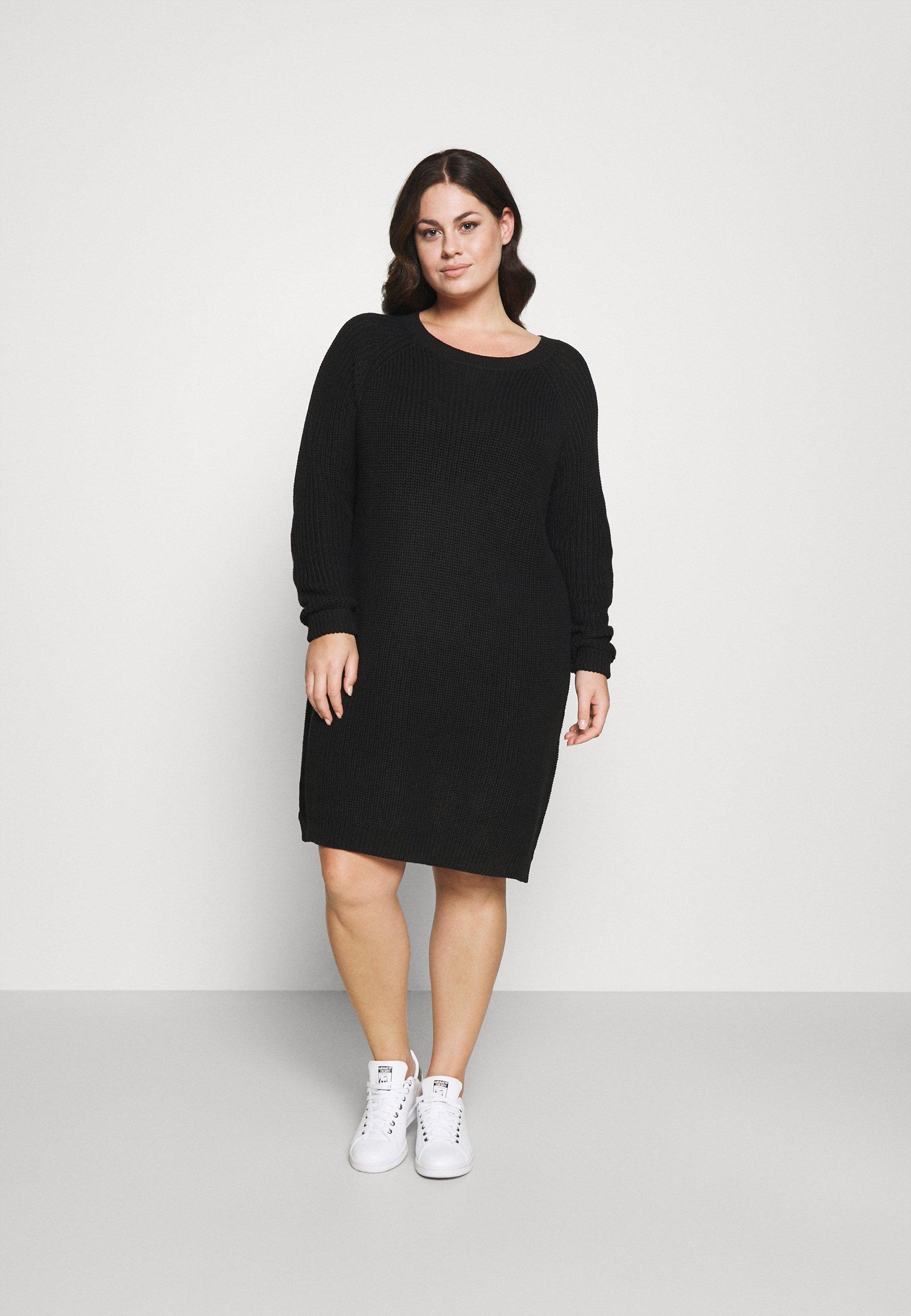 Mujer NMSIESTA O-NECK DRESS - Vestido de punto