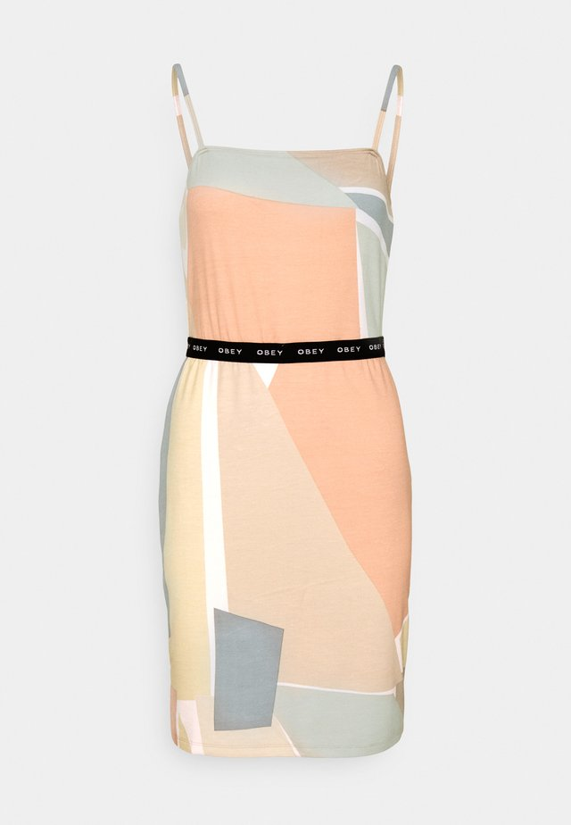 GLEN ASPEN DRESS - Korte jurk - peach multi