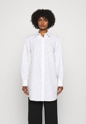 LOGO EMBROIDERED TUNIC SHIRT - Tunika - white