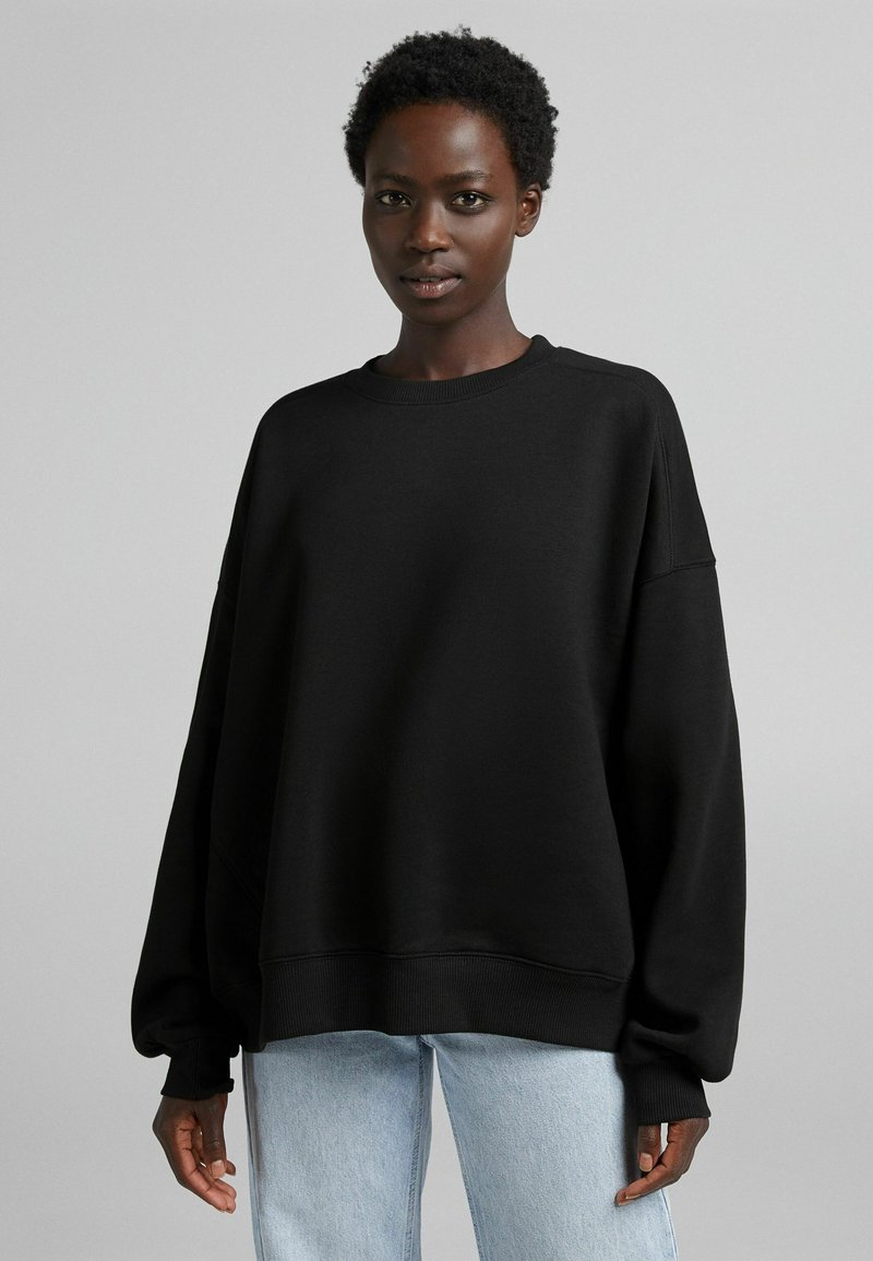 Bershka - OVERSIZE  - Sweatshirt - black