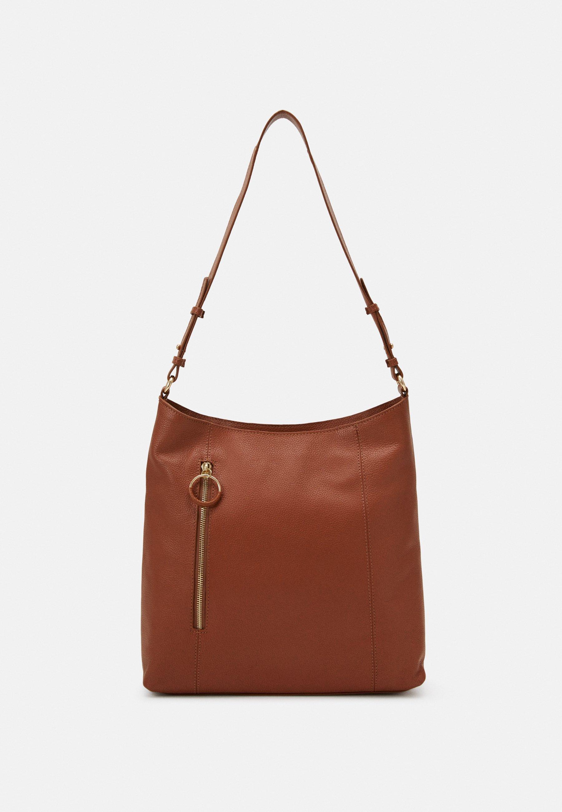 Zign Leather - Handtasche Cognac