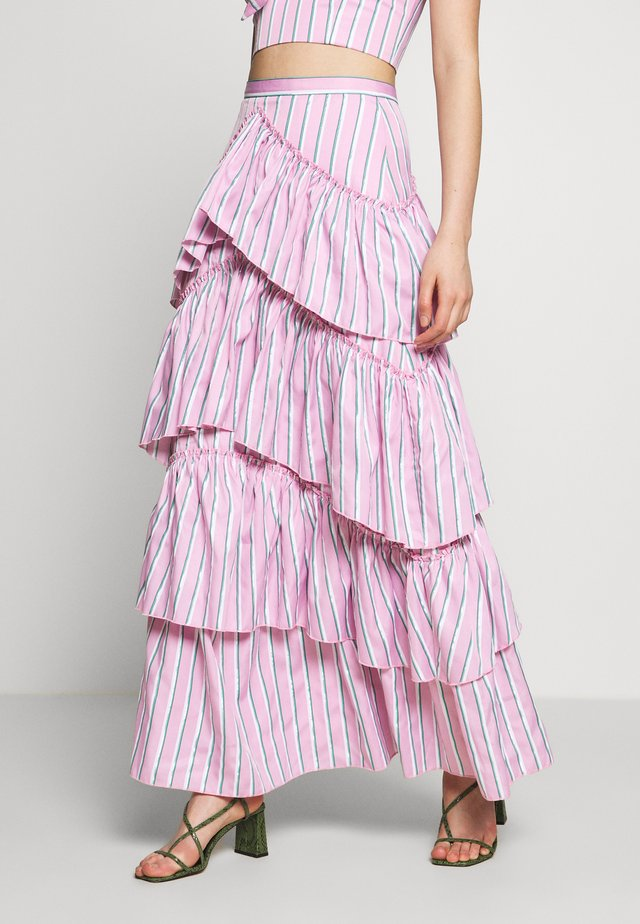 THE LALITO SKIRT - Maksihame - stripe