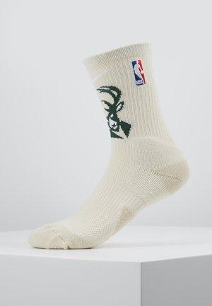NBA MILWAUKEE BUCKS ELITE - Sports socks - flat opal/fir