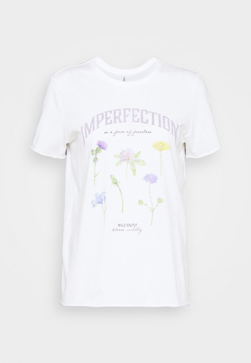 ONLY - ONLLUCY LIFE WILDFLOWER  - Printtipaita - bright white/imperfection