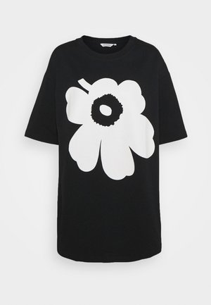 KIOSKI ISOH UNIKKO PLACEMENT - Print T-shirt - black/off white