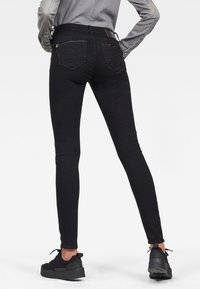 G-Star - MIDGE ZIP MID SKINNY - Jeans Skinny Fit - pitch black - 1