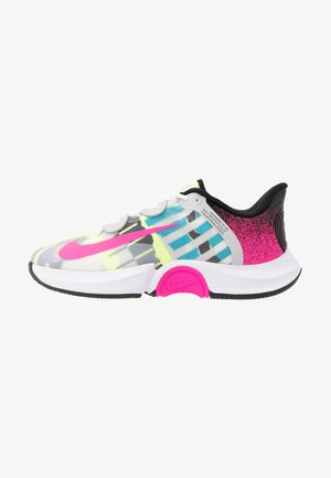 COURT AIR ZOOM TURBO - Multicourt tennis shoes - white/laser fuchsia/sapphire/hot lime