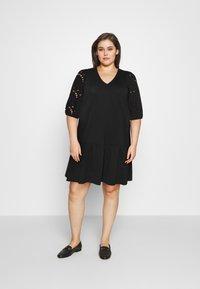 Vero Moda Curve - VMALLARIAS DRESS  - Day dress - black - 1