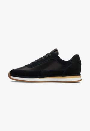 RUN LACE - Sneakers laag - black combi suede