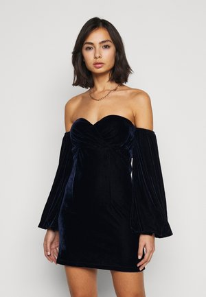 PUFF SLEEVE MINI DRESS - Cocktail dress / Party dress - navy