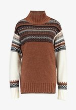PATCHWORK FAIRISLE  - Pullover - camel/multi