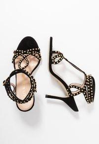 Stuart Weitzman - LEYA BEAD - High heeled sandals - black/gold - 3