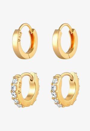 2 PACK HOOPS MINIMAL - Earrings - gold