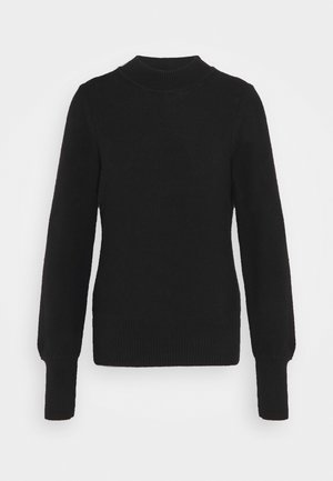 CROP MOCK - Strikkegenser - true black