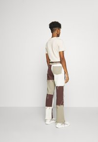 Jaded London - PATCHWORK  BOYFRIEND FIT WITH FRAYED SEAMS - Jeans relaxed fit - brown - 2