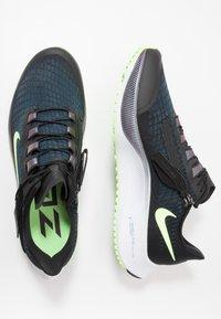 Nike Performance - AIR ZOOM PEGASUS 37 FLYEASE - Neutral running shoes - black/ghost green/valerian blue - 1