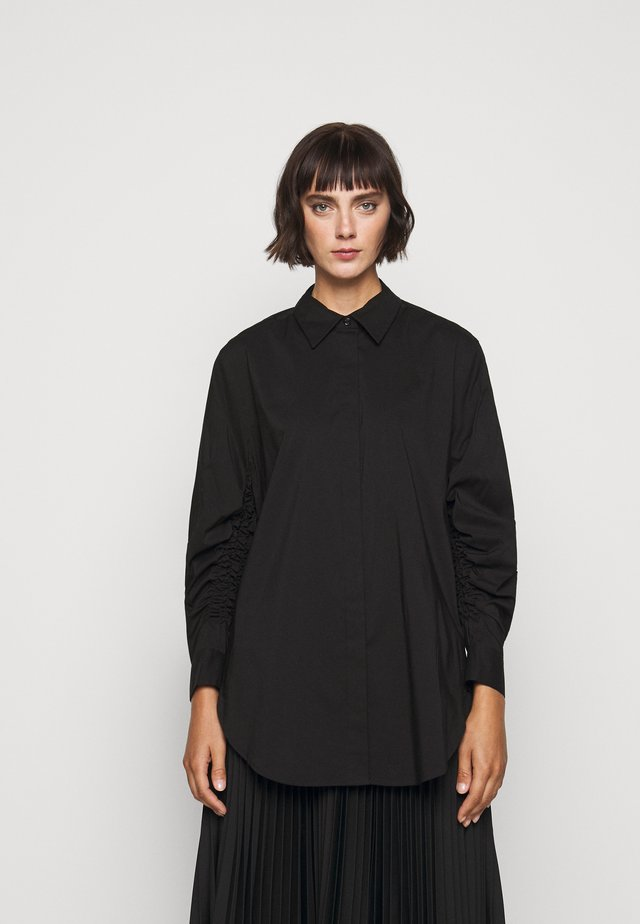 CLEMANDE FANCY SLEEVE BLOUSE - Button-down blouse - black