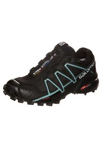 Salomon - SPEEDCROSS 4 GTX - Trail running shoes - black/metallic bubble blue - 6