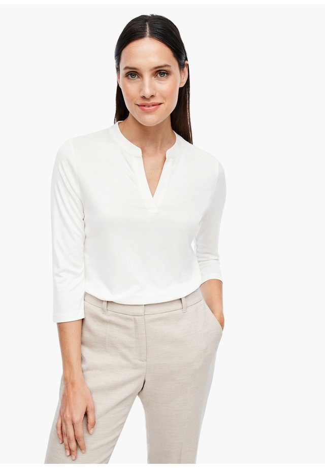 MIT SATINBLENDE - Blouse - cream