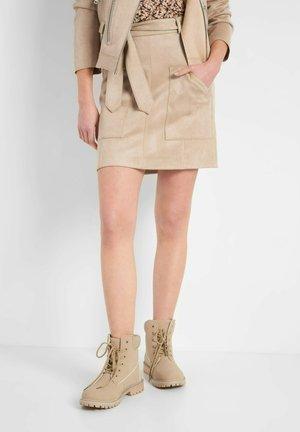 A-line skirt - autumn beige