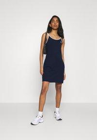 Fila - HOPE SPAGHETTI STRAP DRESS - Jersey dress - black iris - 1