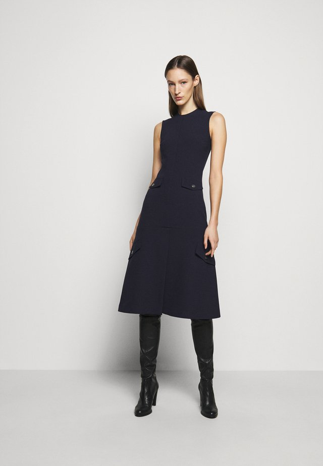 SLEEVELESS UTILITY FLARE MIDI - Day dress - navy