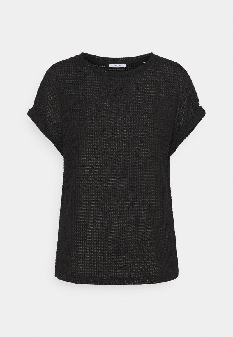 Opus - GARTENA - Print T-shirt - black