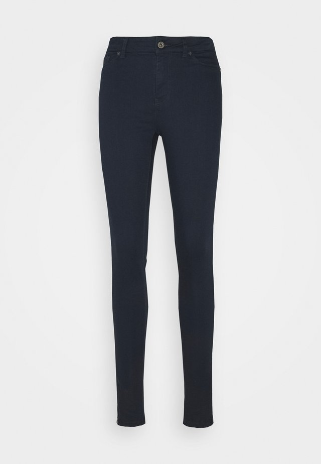 VMHOTSEVEN ZIP PANTS - Spodnie materiałowe - navy blazer