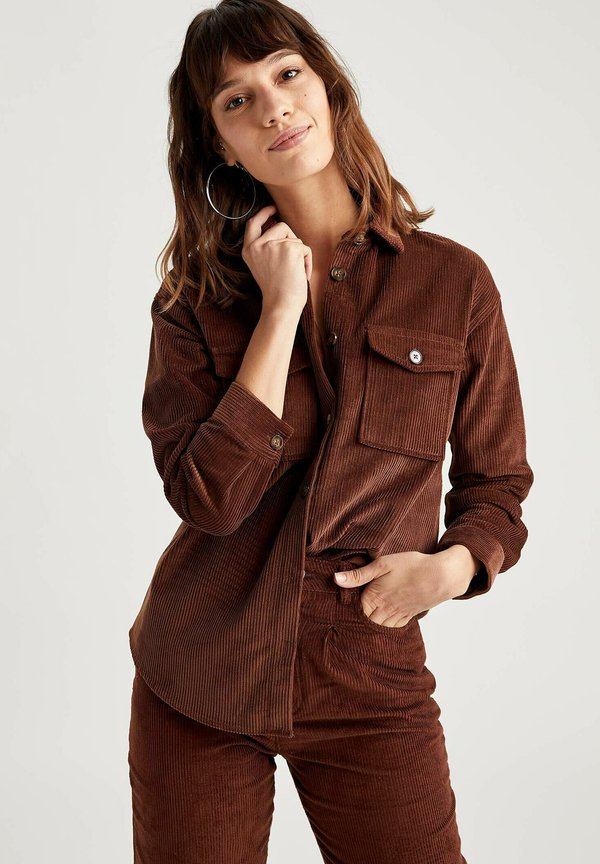 DeFacto Koszula - brown/brązowy THLB