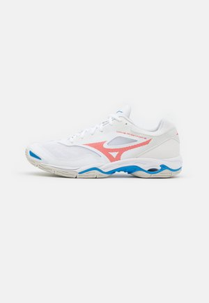 WAVE PHANTOM 2 - Handball shoes - white/ignition red/french blue