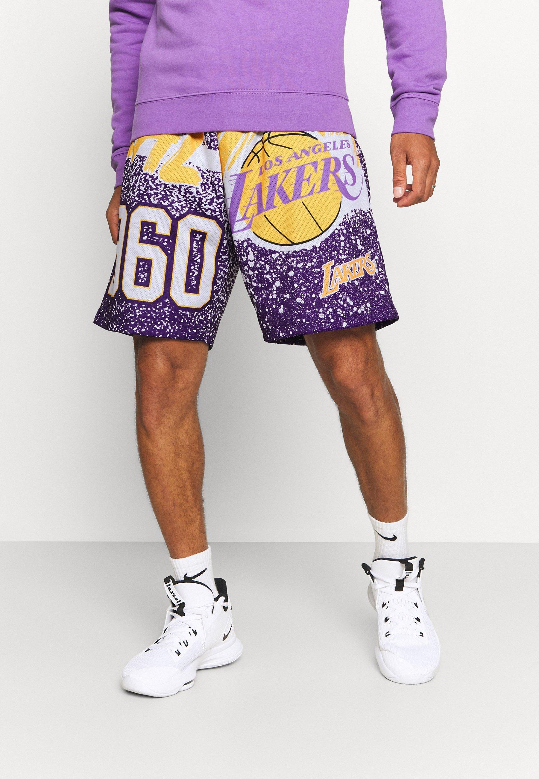 Men NBA LOS ANGELES LAKERS JUMBOTRON SUBLIMATED SHORTS - Club wear