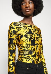 Versace Jeans Couture - LADY BUSTIER - Long sleeved top - black - 5