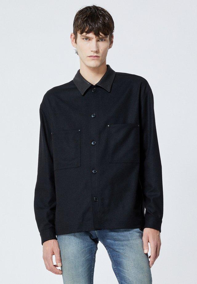 COL CUIR - Koszula - black