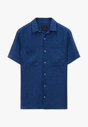 Shirt - blue black denim