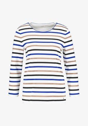 Long sleeved top - ecru/weiss/blau ringel